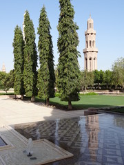 Sultan Qaboos Qabus Grand Mosque Mosquée Muscat Mascate Oman