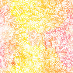 Seamless floral grunge  orange and pink gradient pattern. Eps10
