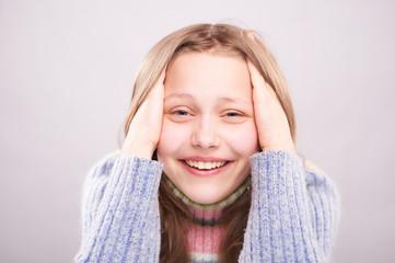 Portrait of a cute teen girl