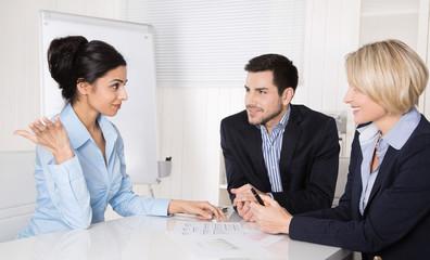 Vorstellungsgespräch bei der Geschäftsleitung