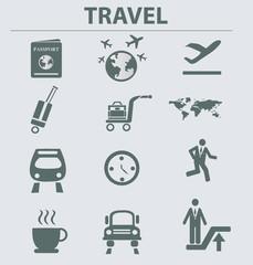 Travel icon set,vector