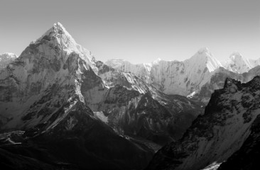 Wall Mural - Himalaya Mountains Black and White