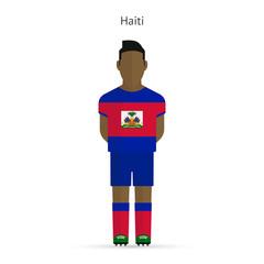 Haiti football player. Soccer uniform.