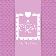 Happy Mothers's Day Template Card Background