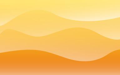 summer gradient orange with wave background