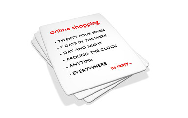 online shopping - be happy