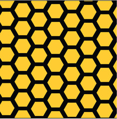 Vector illustration of pattern honeycombs