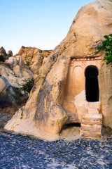 Ancient Christian churches in rocks - Cappadocia in Turkey