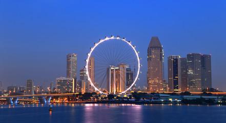 Foto op Plexiglas Singapore Singapore cityscape during twilight time