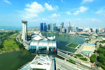 Foto op Plexiglas Singapore SINGAPORE - April 13: View of the Singapore Flyer on April 13, 2