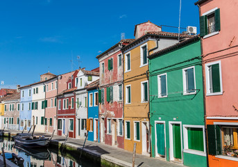 Street of Colors in Burano