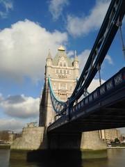 Tower Bridge over the Thames River, London, UK.
