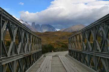 Iron bridge in Torres del Paine