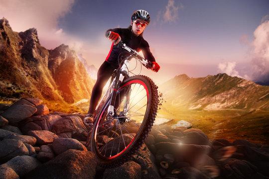 Mountain Bike cyclist riding