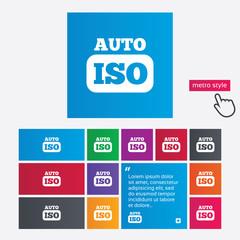 ISO Auto photo camera sign icon. Settings symbol
