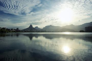 Lagoa Rio de Janeiro Brazil Scenic Skyline