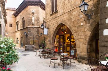 Poble Espanyol - traditionele architecturen in Barcelona, Spanje