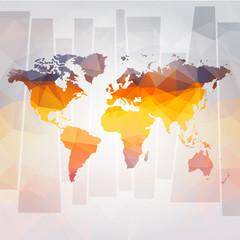 Fototapeten Weltkarte modern concept of world map vector