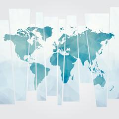 Acrylic Prints World Map modern concept of world map vector