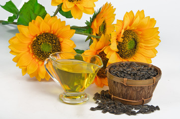 sunflower seeds and vegetable oil