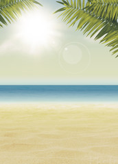 Summer paradise background