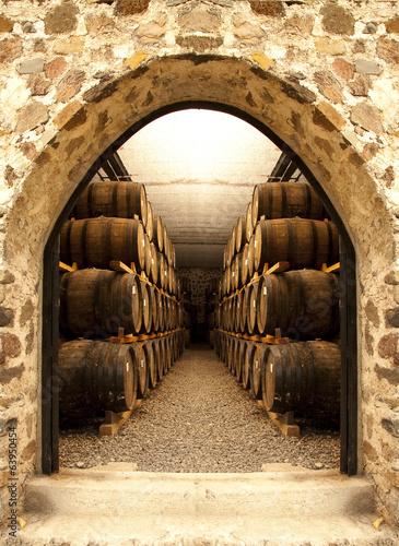 Fototapete Wine barrels