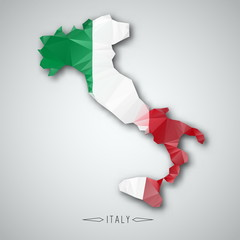 Italy map in a Triangular Style. Vector Illustration