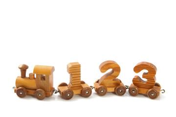 Wooden 123  train
