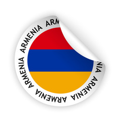 vector flag bent sticker