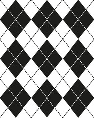 Seamless monochrome pattern Scottish