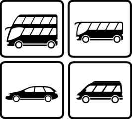 set passenger transport icon