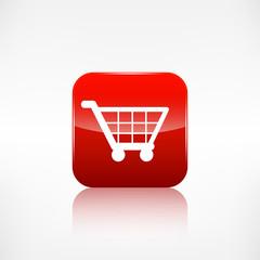 Shopping basket icon. Application button.