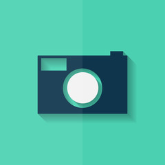 Photo camera icon. Photography. Flat design.