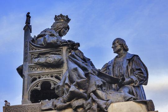 1492 Isabella with Columbus Statue Built 1892 Andalusia Granada