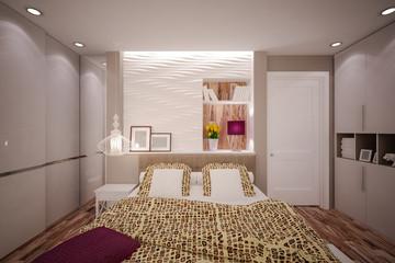 Interior Bedroom in modern style