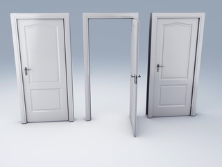 three doors, choice concept