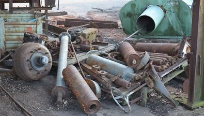 Rusty metal trash