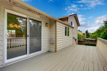 House exterior.  Walkout deck