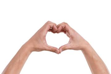 Hände formen ein Herz