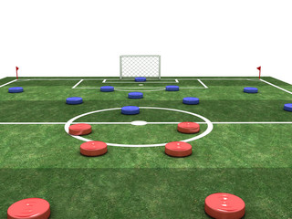Football stadium with colorful chips №6