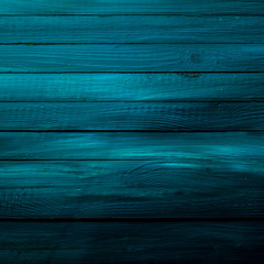 Background texture of wooden blue boards