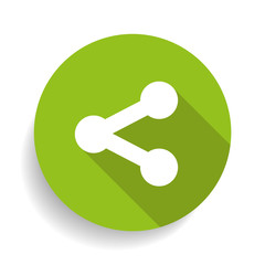 Share single flat icon.
