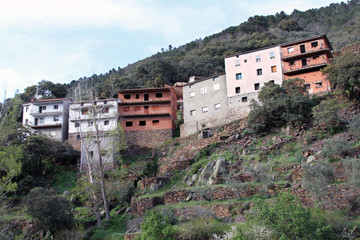 Wall Mural - Casas de El Gasco, Hurdes, España