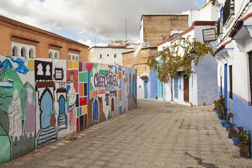 CHEFCHAOUEN, MOROCCO, NOVEMBER 20: street of the Blue city of Ch
