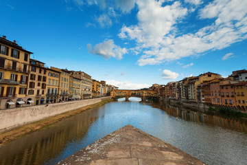 Florence, ITALY, SEPTEMBER 19: Ponte Vecchio over Arno River in