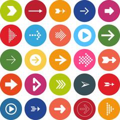 flat design vector set different arrows