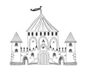 Old engraved illustration of Chateau de Pau