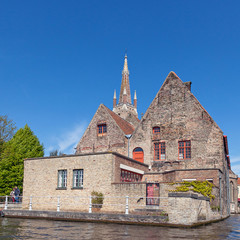 Wall Mural - Ancient red brick building in Bruges