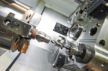 Drilling process of metal on machine tool