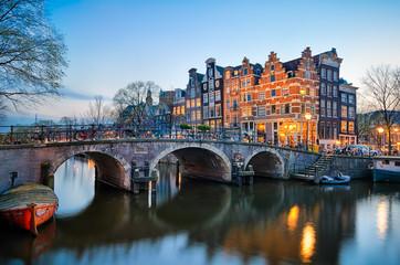 Printed roller blinds Amsterdam Sunset in Amsterdam, Netherlands